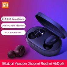 Globalna wersja Xiao mi Red mi AirDots bezprzewodowe słuchawki mi prawdziwe bezprzewodowe wkładki douszne podstawowe mi ni słuchawki bluetooth słuchawki