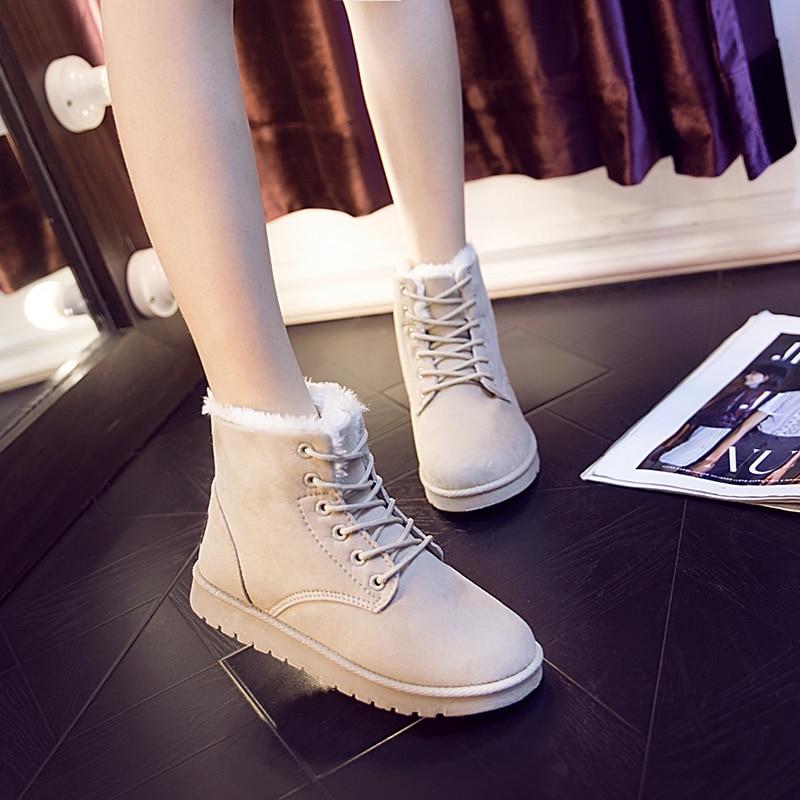Новинка 2020, женские ботинки, зимние ботинки, женские ботинки, теплая женская обувь на плоской подошве с кружевом, лидер продаж, женские черные короткие ботинки|Зимние сапоги| | АлиЭкспресс