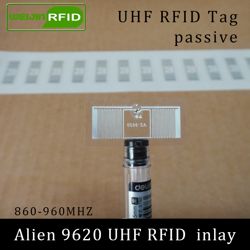 UHF RFID Tag Alien 9620 Sticker Inlay 915m 900 868mhz 860-960MHZ Higgs3 EPC C1G2 ISO18000-6C Smart Card Passive RFID Tags Label