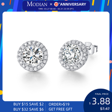 Lose Money Promotions! Wholesale 925 Sterling silver earrings, fashion jewelry, Cute Zircon earrings For Women RJ113 cute long chain silver stud earrings with bling zircon stone for women fashion jewelry korean earrings 925 silver