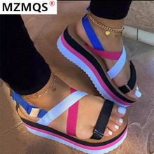 2020 Summer Women Shoes Platform Sandals New Fashion Patchwo
