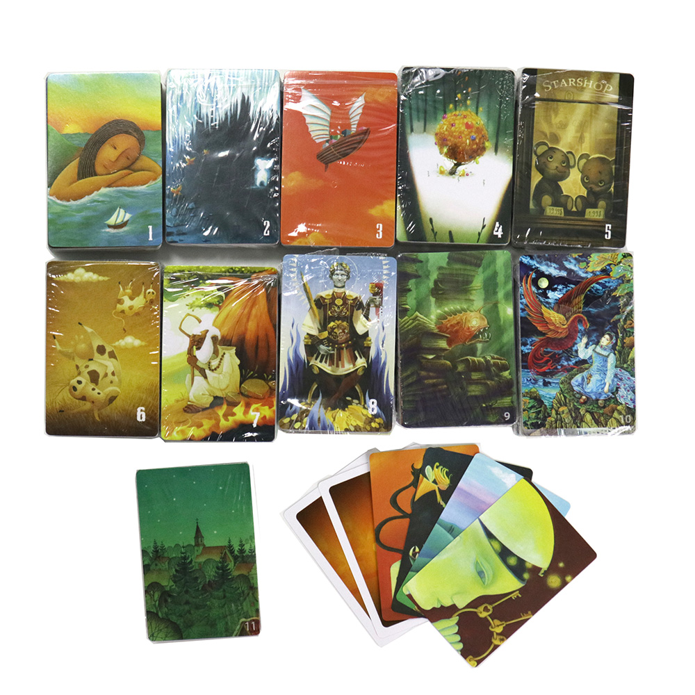 Mini raconter des jeux de cartes, 78 cartes à jouer, jouets éducatifs dimagination pour des cadeaux de jeu de société de table damusement de partie à la maison denfants