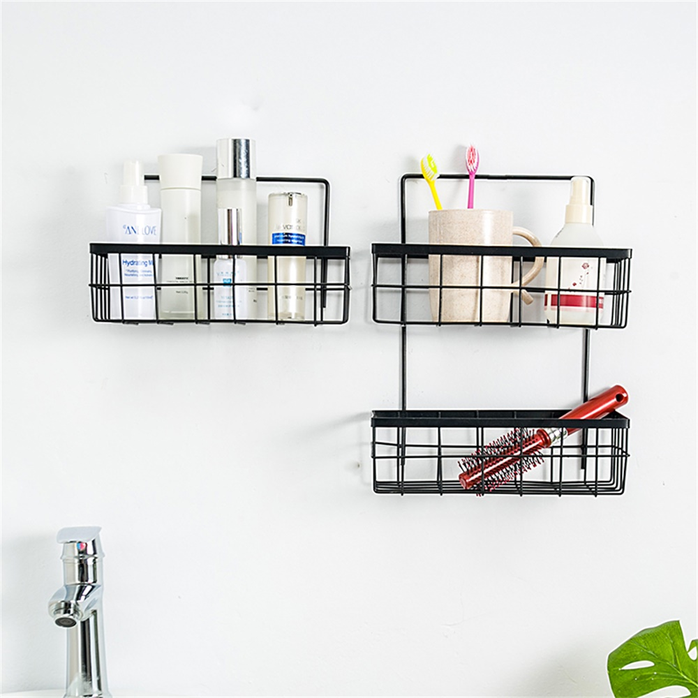 Storage Basket Wall Hanging Household Shelf Door Hanging Home Organizer Rack For Bathroom Kitchen Sundries Nodic Style