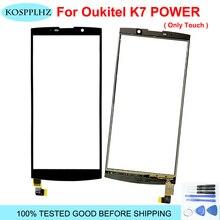 オリジナル新タッチスクリーンoukitelためk7 プロタッチスクリーンパネルガラスレンズデジタイザセンサーoukitel k7 電源無料ツール + 接着剤