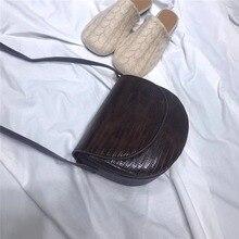 Fashion Alligator Semicircular Bags Women Shoulder Bag Retro Crocodile Pattern Crossbody Messenger Mini Phone Purses