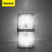 Baseus-luz de advertencia de apertura de puerta de coche, 2 uds., LED, anticolisión, alarma de emergencia automática, señal intermitente de coche, accesorios de luces