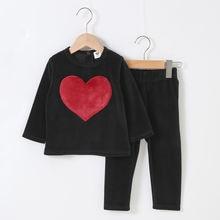 2020 детская одежда комплект из длинного топа и штанов детский