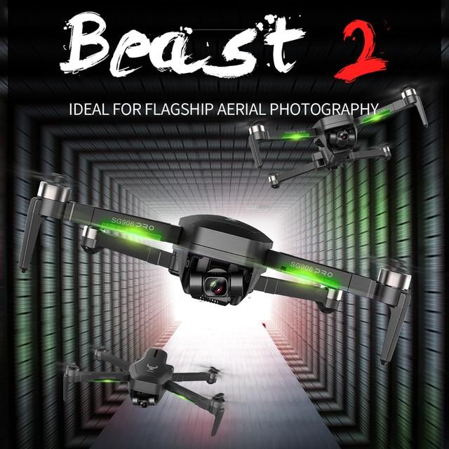 Beast SG906 PRO 2 GPS Drone With 2-axis Anti-shake Self-stabilizing Gimbal 4K Camera Brushless Motors 5