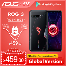 Global Version ASUS ROG Phone 3 5G Gaming Phone Snapdragon 865 Plus 8RAM 128ROM 6000mAh 144HZ 2SIM Card NFC ROG3 Smartphone cheap Not Detachable 128G CN(Origin) Android In-Screen Fingerprint Recognition Face Recognition ≈64MP Quick Charge 4 0 english