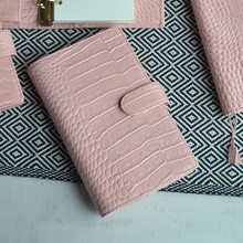 Yiwi Presell A6 Slim Cowhide Croc Genuine Leather Notebook Diary planner journal