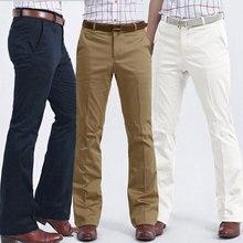 Цвет: белый хаки черный темно-синий серый мужские деловые повседневные расклешенные брюки тонкие свободные брюки мужские корейские широкие брюки