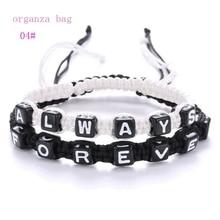 5Set European and American fashion new couple alphabet bracelets  ALWAYS FOREVER handmade woven bracelet C-33