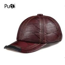 цена на HL099  genuine leather men baseball cap hat CBD high quality  men's real leather adult solid adjustable hats caps