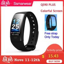 Qs90 Plus Heart Rate Monitor Smart Band Bracelet Watch Blood Pressure Fitness Tracker Bracelet For S