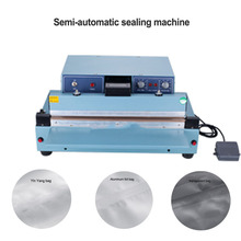 Commercial Desktop Semi-automatic Sealing Machine Pedal Plastic Bag Sealing Machine Household Sealer 220v 1000w цена