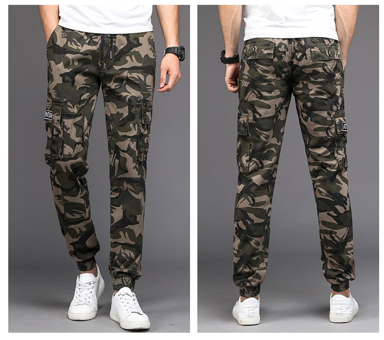 KSTUN Camouflage Casual Pants Men Joggers Men's Trousers Drawstring Sweatpants Male Large Size Blue Military Army Cargo Pants Men Boys 15