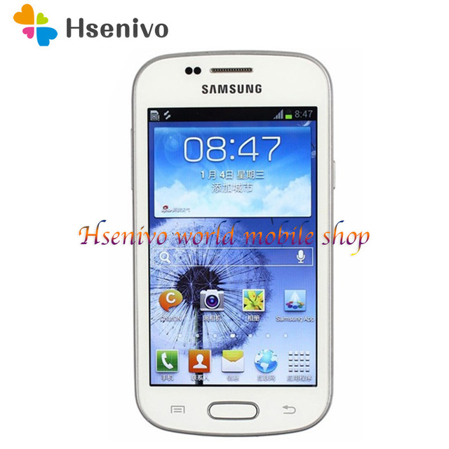 """Samsung S7568 cell phone Android 4GB ROM Wifi GPS Quad Core 4.0"""" touch screen mobile phone"""