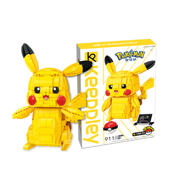 Assembled building blocks toy wizard Pokemon Pikachu ornaments enlightenment small particles assembled adult figure 1