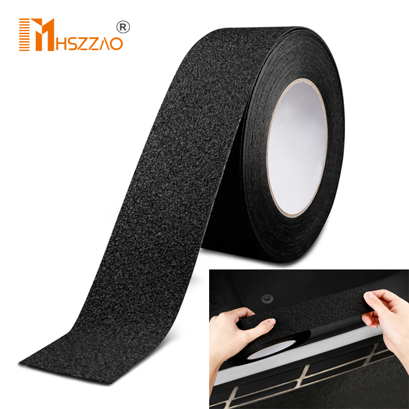 5D Non-slip Nano Glue Car Sticker PEVA rubber non-slip tape stickers For Step wear toilet bathroom floor wear strip