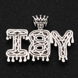 Image 5 - Uwin korona początkowa litera naszyjnik Customzie Bubble początkowe litery złoto srebro różowe złoto kolor słowa nazwa OEM LINK