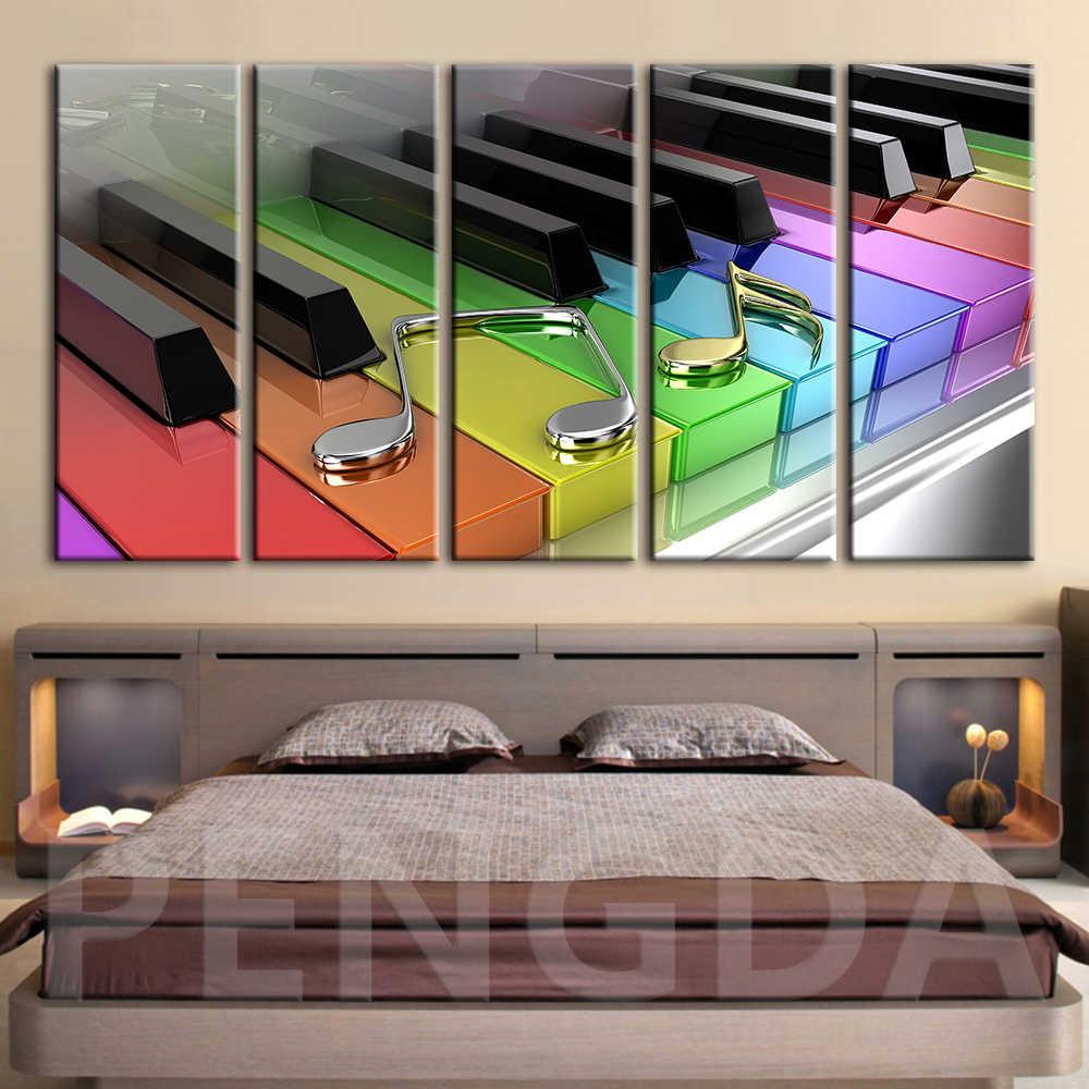 HD Печать украшение дома живопись современный холст постер фортепиано клавиатура модульная настенная художественная основа куадро картины для спальни
