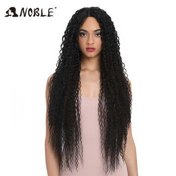 Noble Synthetic Wig Lace Front  For Women Long Part 38 Inch Long Curly Ombre Blonde Wig With Dark Roots Wavy Heat Resistant - DISCOUNT ITEM  52% OFF All Category