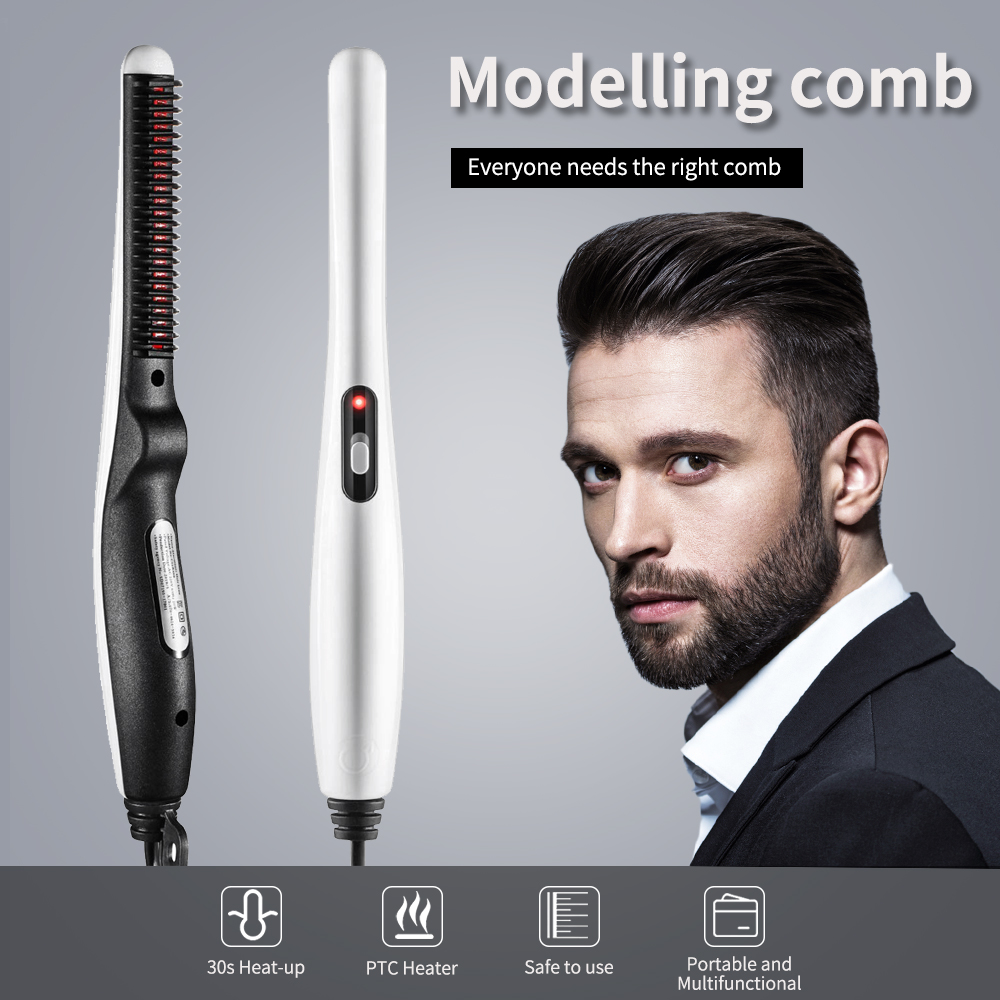 Multifunctional Hair Comb Brush Quick Beard Straightener Curling Curler Show Cap Men Beauty Hair Styling Tool Free Shipping 1