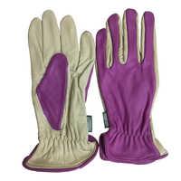 Guantes de trabajo de piel de vaca de alta resistencia resistentes a las espinas guantes de jardinería resistentes al agua duraderos y transpirables guantes de mano