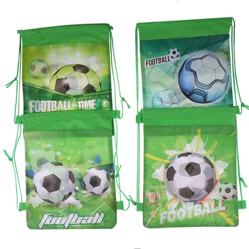 4style nietkane materiały piłka nożna ściągana sznurkiem na prezent torby dla dzieci chłopcy plecak buty torby na ubrania Cartoon plecak ze sznurkiem tanie i dobre opinie ZTBBAO Włókniny tkaniny Drawstring backpack