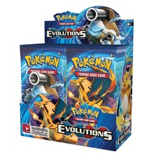 Binfei 324Pcs Pokemon Cards Sun & Moon XY Evolutions Pokemon Booster Box Collectible Tradiner Card Game toy for children
