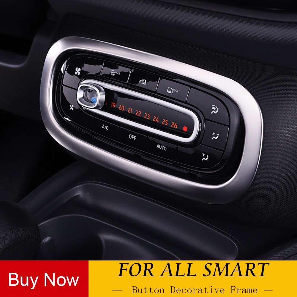 Adesivo personalizado 3d de fibra de carbono, adesivo para mercedes smart 453 fortwo