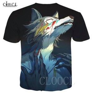Image 2 - BEASTARS קריקטורה אנימה לבן חולצה חולצות סוודרי 3D זאב בעלי החיים מודפס גברים/נשים טי חולצה Harajuku גדול T חולצה