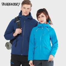 цена на Facecozy Softshell Hiking Jackets Winter Outdoor Men Women Trekking Thick Jackets Sports Climbing Windbreaker Camping Coats