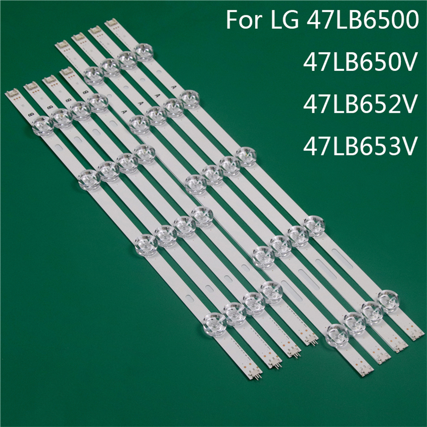 LED TV Illumination Part Replacement For LG 47LB6500 47LB650V 47LB652V 47LB653 LED Bar Backlight Strip Line Ruler DRT3.0 47 A B