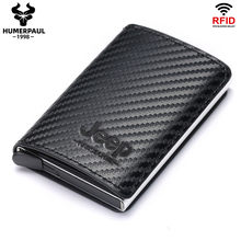 RFID Blocking Credit Card Holder Wallet Men Women Metal Fashion Aluminium Bussiness Crad Bag PU Leather Bank Cardholder Case