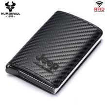 RFID Blocking Credit Card Holder Wallet Men Women Metal Fashion Aluminium Bussiness Crad Bag PU Leather Bank Cardholder Case
