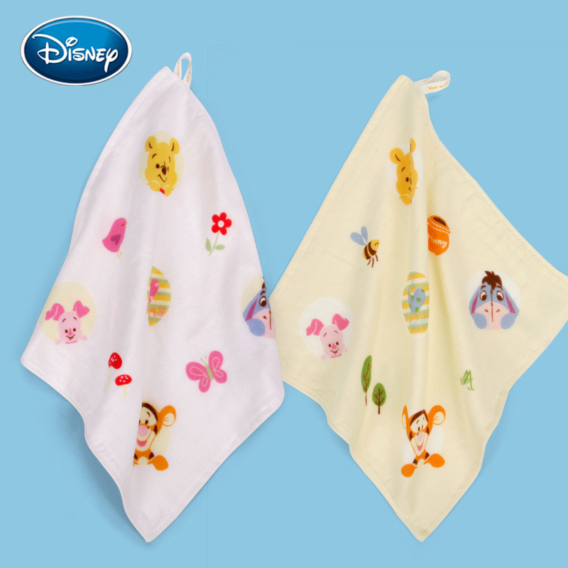 Disney 1pcs Mickey Minnie Cotton Gauze Square Towel Baby Handkerchief Saliva Towel Sweat Towel Soft Towel 30x30cm  Kids Gifts