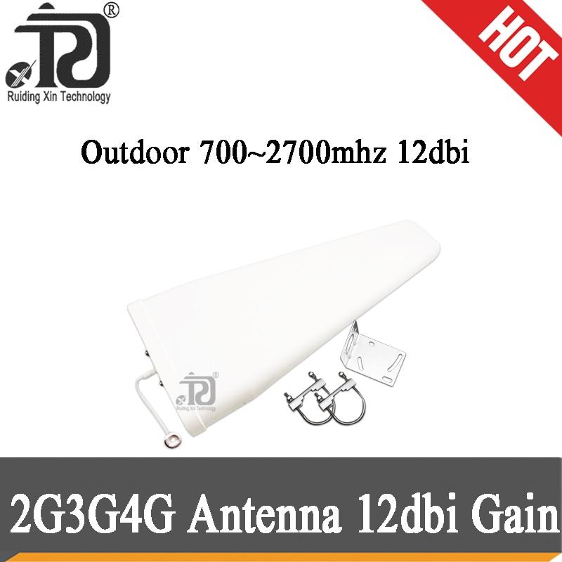 12dBi High Gain 700-2700mhz Outdoor LPDA Yagi Antenna For Cell Phone Signal Booster Repeater Amplifier 2G 3G 4G CDMA GSM DCS PCS