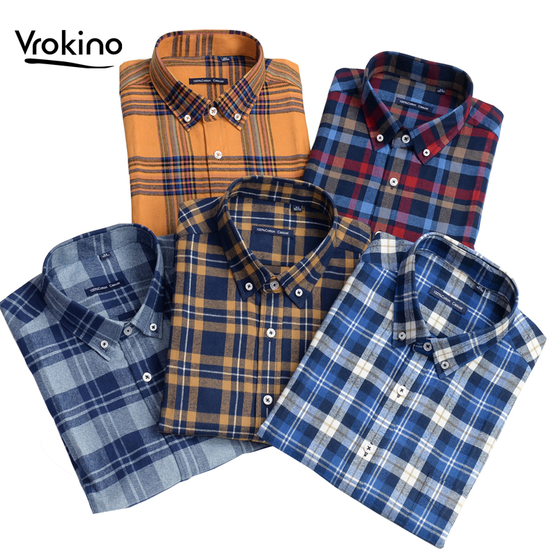 2019 Autumn And Winter Large Size 7XL 8XL 9XL 10XL Men's Plaid Shirt 100% Cotton High Quality Business Casual Long Sleeve Shirt
