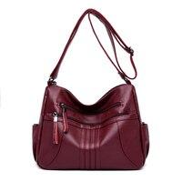 Crossbody Bag for Women Shoulder Bag Luxury Soft Leather Large Bag Female Messenger Bags Big For Ladies Handbag Designer Brand