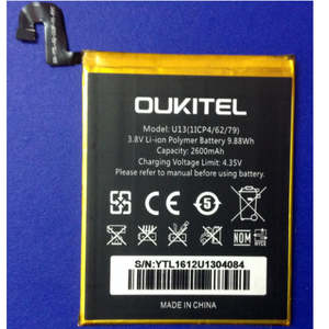 Replacement Battery Smart-Phone 2600mah Oukitel for U13 Large-Capacity High-Quality Li-Ion