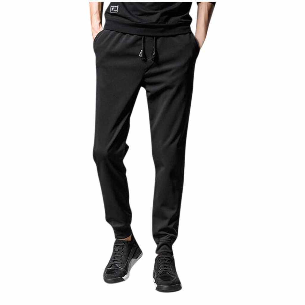 メンズ固体巾着ポケットスポーツズボンカジュアルビーム足パンツ S-5XL ストリート pantalones hombre ジョギング sweatpant #20