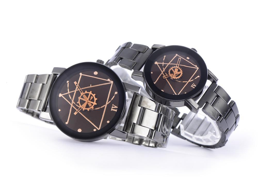 100pcs/lot Couple Watch Women Men Hot Fashion Personality Quartz Wristwatches Lovers Watch Clock Saat Relogio Feminino Wholesale