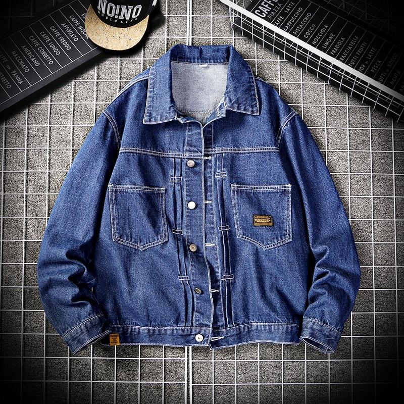 2020 New Denim Jacket Men's Classic Loose Casual Single-breasted Denim Coat Jean Jacket Men