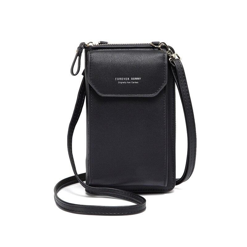 Cartera de mano multifuncional para mujer, Mini bolso de hombro a la moda, informal, para teléfono móvil, 2020