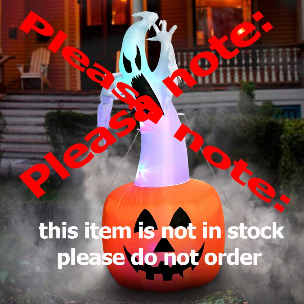 Image 2 - OurWarm Halloween Inflatable Pumpkin Outdoor Scary Decoration Halloween Party Inflatable Blow in Pumpkin Up Inflatable Witch-in Party DIY Decorations from Home & Garden