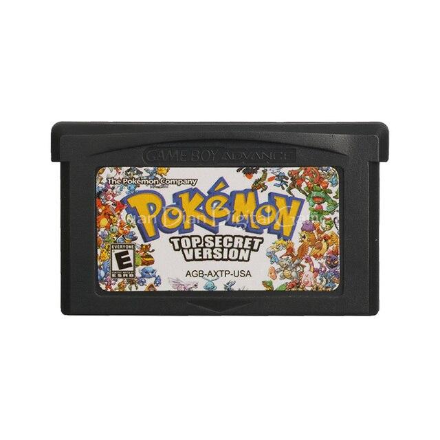 For Nintendo GBA Video Game Cartridge Console Card Poke Series Top Secret English Language US Version