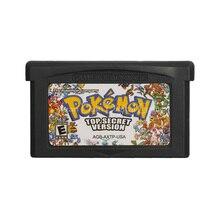 Картридж для игровой консоли Nintendo GBA с карточкой в виде секретной надписи на английском языке американская версия