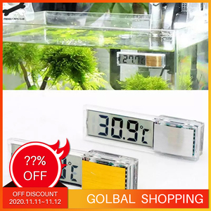 Image 1 - Aquarium thermometer Digital LCD electronic fish tank 3D Digital temperature gauge sticker shrimp fish turtle G3615