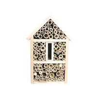 Bee House Bamboo Bee Hive For Solitary Bees House Garden Decoration Hand made Crafted Pine Wood Support Dropshipping